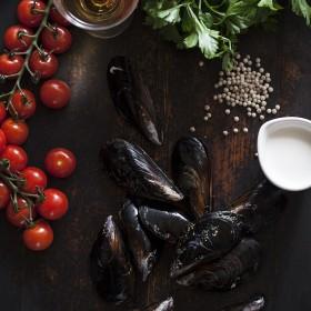 Fresh mussels (Bivalvia Mollusca)