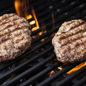 Italian sausage patties on the grill