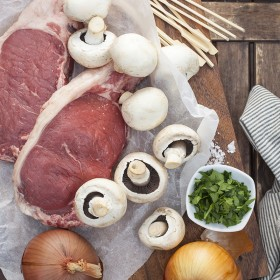 Mushrooms and Onions, a Great Side to Steak!