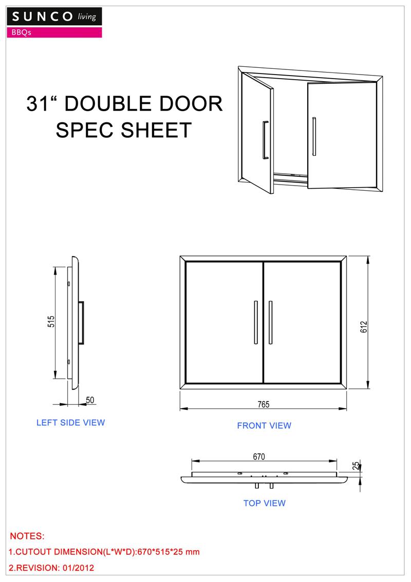 $299.00  sc 1 st  bbqxl & Sunco Built In Stainless Steel BBQ 2 Door   BBQ XL - Australia\u0027s BBQ ...