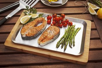 bamboo chopping board and stainless steel tray_2_Accessoreis_BBQXL
