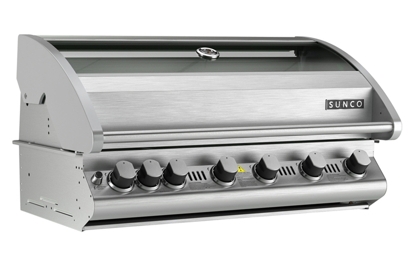 Sunco sc61 12p 6 burner stainless steel built in bbq bbq for Sunco bbq