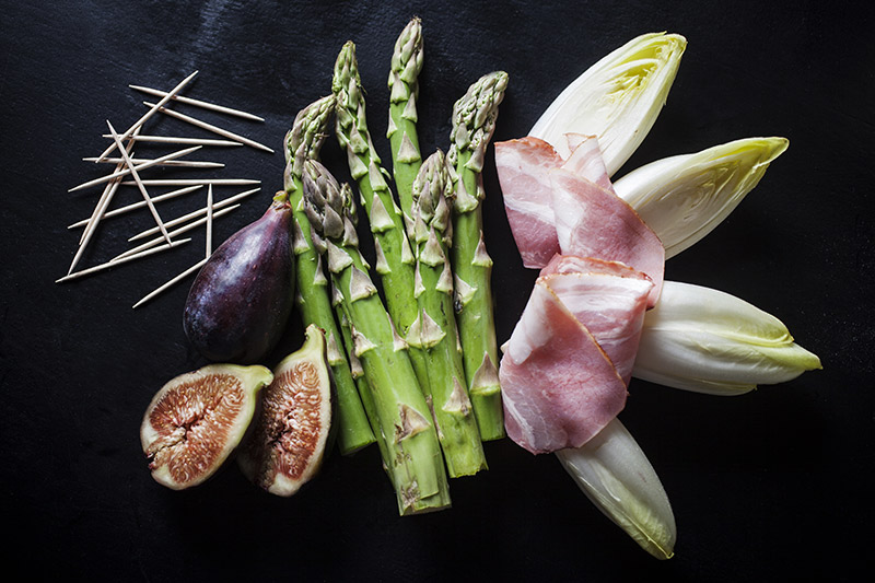 Or accompany them with grilled vegetables wrapped in bacon!