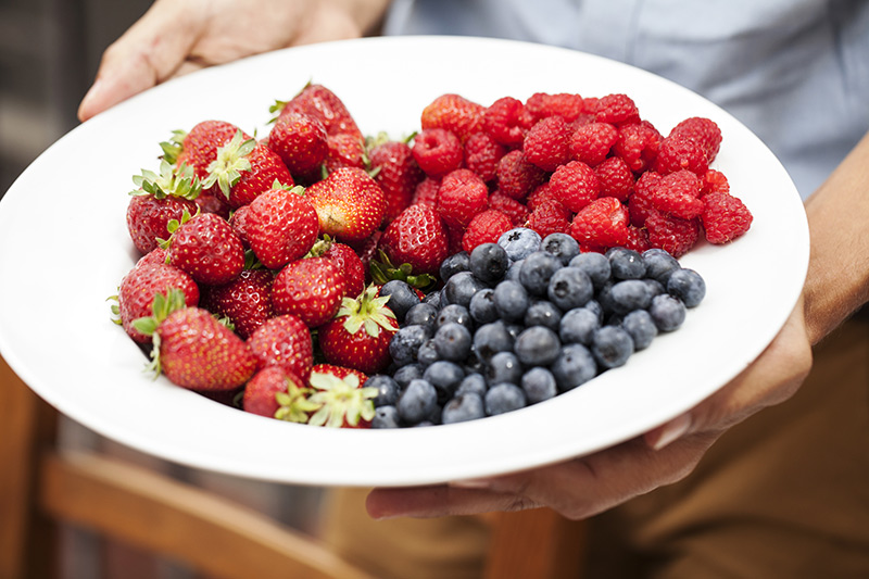 Have extra berries at hand when you serve the skewers. Blueberries and raspberries don't skewer well and fresh berries accompany grilled ones perfectly!