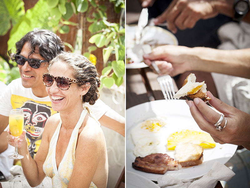 Breakfast in the sun with friends and family. Nothing better!