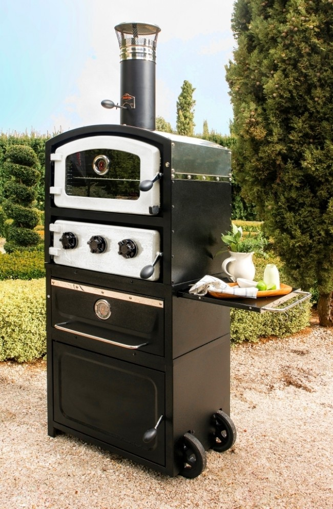 Fornetto Alto Wood Fired Pizza Oven Off White Bbq Xl